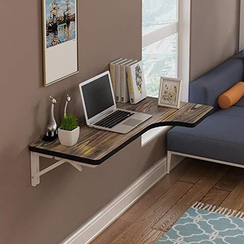 Mesa montada en la pared Mesa de trabajo Mesa de madera maciza Escritorio plegable de hojas abatibles Estante duradero Ahorro de espacio Escritorio multifuncional para computadora portátil, 80x60x35