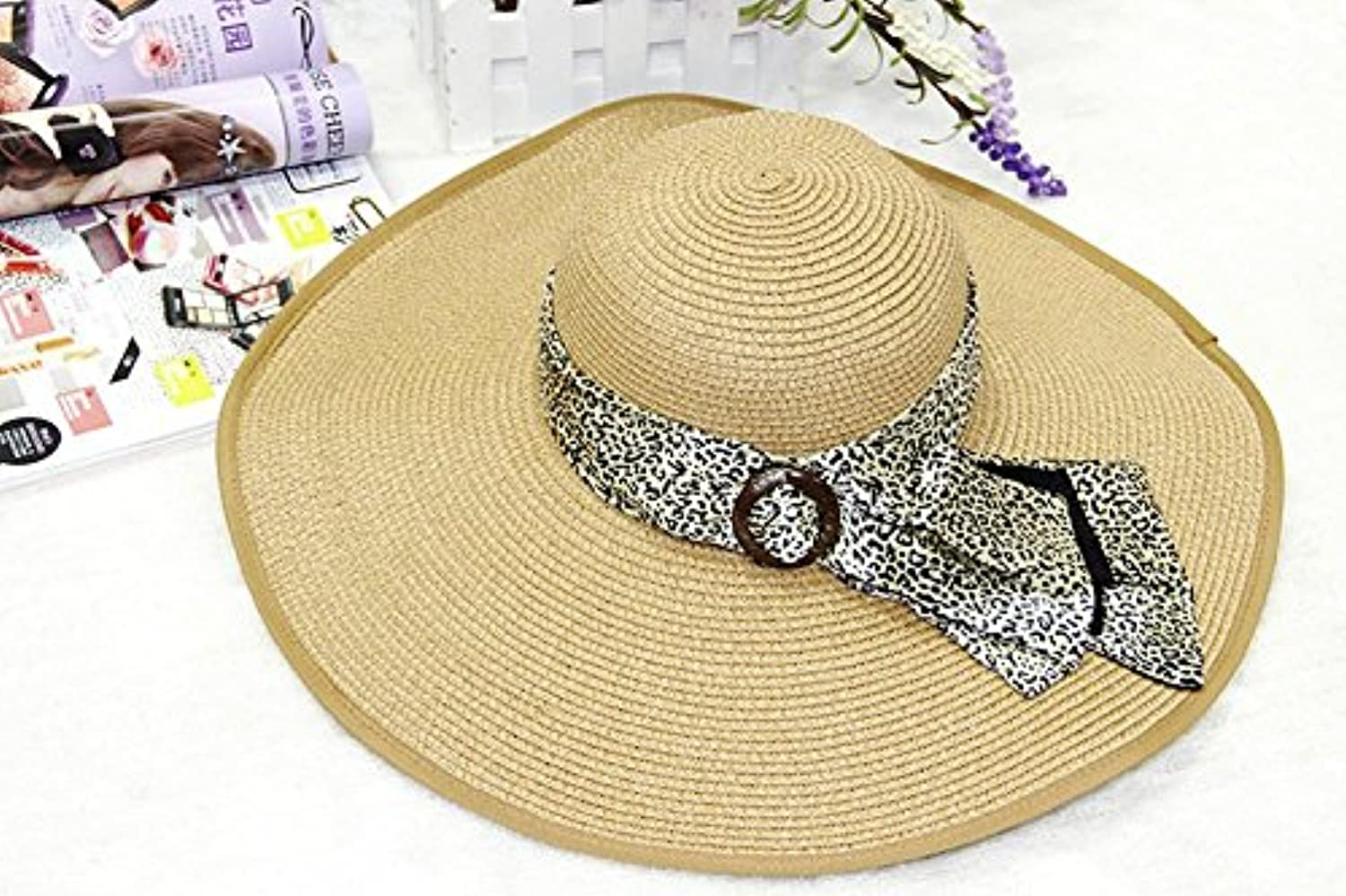 W&P UV in summer straw hat ladies new designer large eaves along the beach Cap Hat