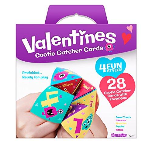 Kangaroo Cootie Catcher Valentine's Cards...