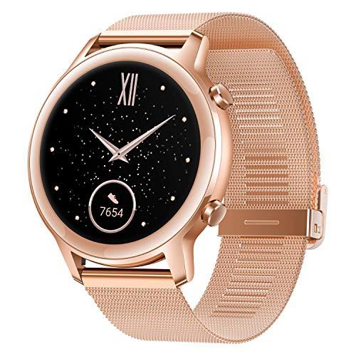 HONOR Magic Watch 2, Huawei Smartwatch Reloj Inteligente Deportivo 5ATM Resistente al Agua Pulsera de Actividad con Pantalla AMOLED 42MM Fitness Tracker Compatible con iOS y Android Dorado