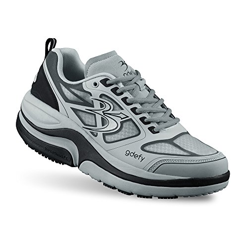 Men's G-Defy Ion Pain Relief Walking Shoes Most Comfortable Shoes for Plantar Fasciitis, Heel Spurs for Plantar Fasciitis Shoes for Heel Pain Gray