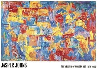 (48x68) Jasper Johns Map Art Huge Print Poster