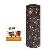 Blackroll Orange STANDARD Faszienrolle - Faszien Massagerolle 45cm (schwarz) für Faszientraining mit Anleitung