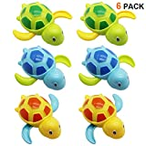 Happy Trees 6 Pcs Bath Turtle Toy, Wind-Up Swimming Turtles, Bathtub Turtle Water Toy for Baby Toddler