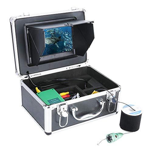 Finder, Finder De Pescado Pesca Submarina Kit De Cámara De 1080P De 7 Pulgadas WiFi WiFi Inalámbrico 16GB Grabación De Video DVR + 6W IR Cámara,20M