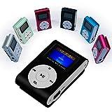 OcioDual Mini Reproductor MP3 Player Clip LCD Aluminio hasta 32Gb Micro SD Radio FM Negro