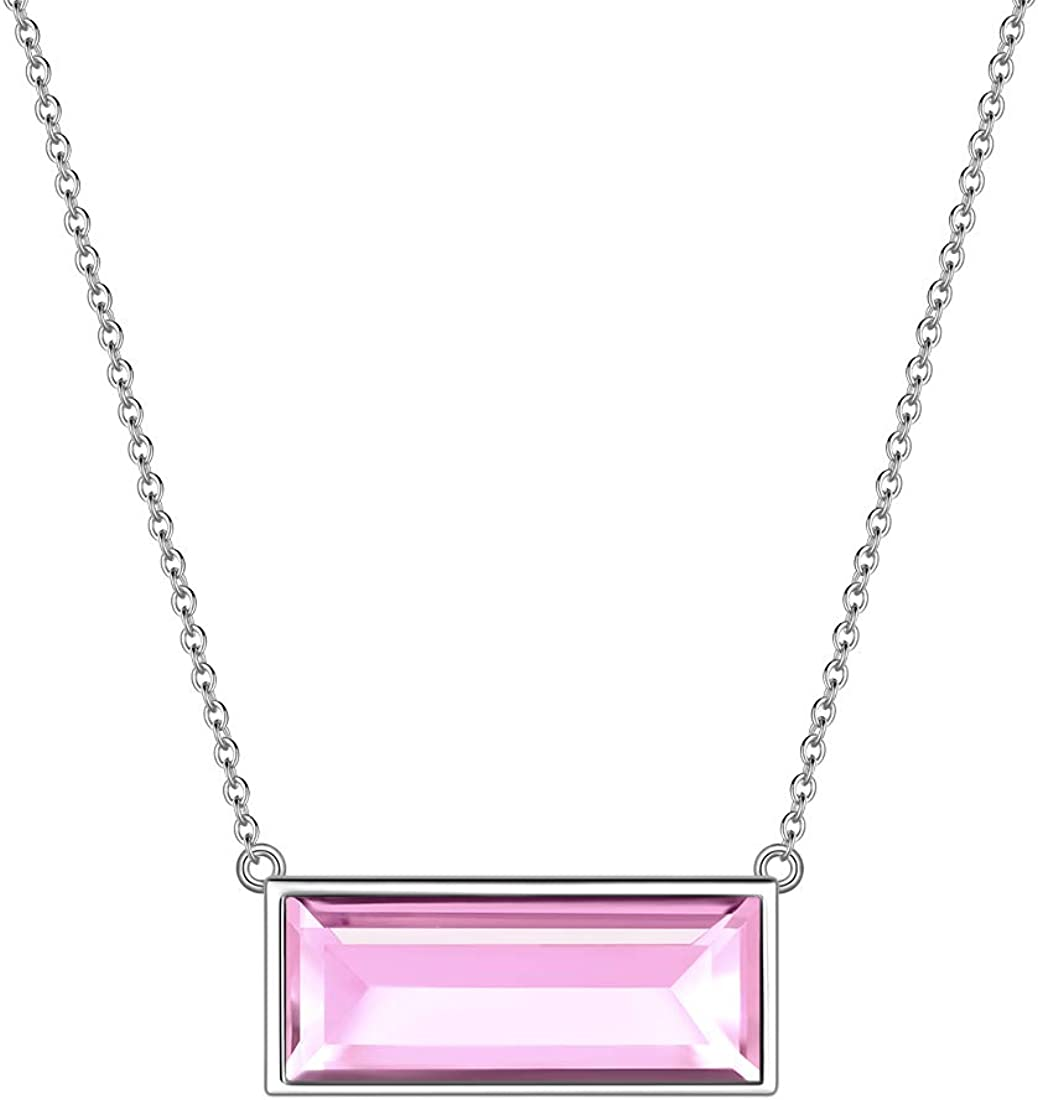 Aurora Tears 925 Sterling Silver Courier shipping free Max 89% OFF Birthstone Women 12 Necklace Bi