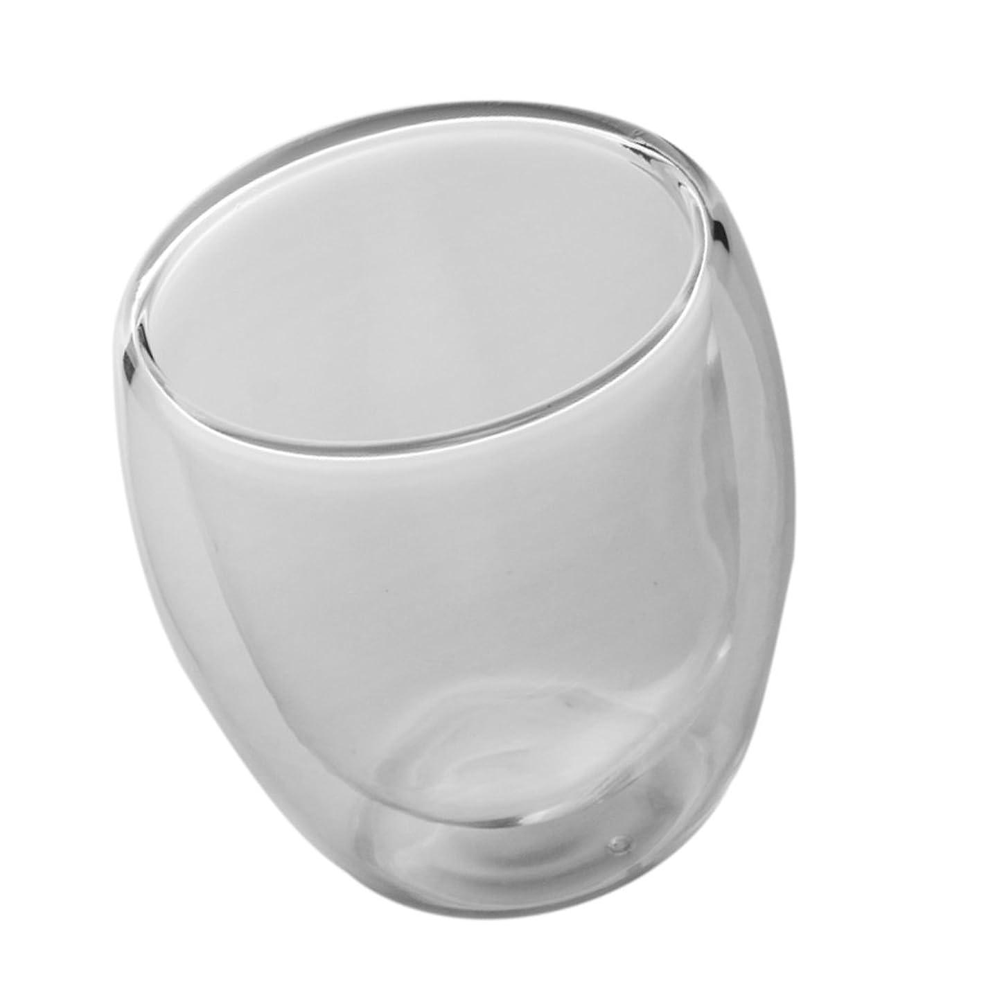 引退する意見ばか二重層カップ ガラスカップ 茶 お茶 コーヒー 喫茶店 カフェ 耐熱 耐久性