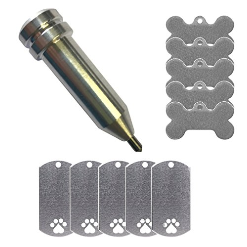 Etching/Engraving Maker-Explore Tool by Chomas Creations and Stamping Blanks: Dog Bone and Dog Tag with Paw