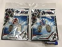 アベンジャーズ エンドゲーム カンバッジ&ピンズセット A D 2種 MARVEL AVENGERS 缶バッジ