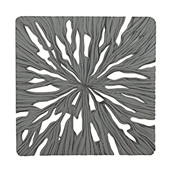 Woodland Imports 23718 Intricate Designer Wood Carved Wall Panel 48x1x48 Square