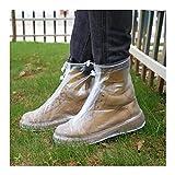 shoe Botas de Lluvia Cubierta de Zapato Impermeable Mujeres Hombres niños Reutilizable PVC Cubiertas de Zapatos de Goma (Size : X-Large)