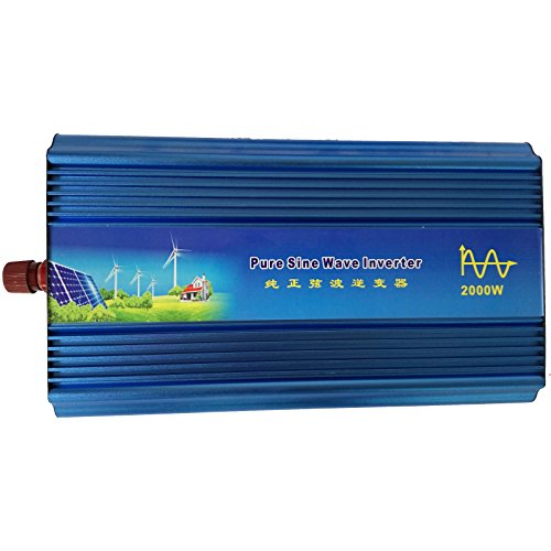 Holdwell DC 12V to AC 220V AC200-240V Power Pure Sine Wave Inverter 2000W