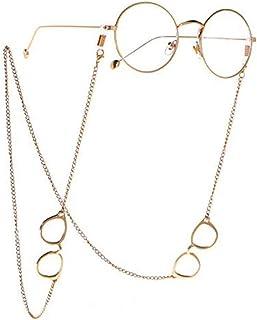 سلسلة نظارات قراءة أنيقة للنساء من المعدن نظارات شمس حبال مطرزة نظارات نظارات النظارات حبل حمل أحزمة ذهبي