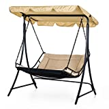 Outsunny Outdoor Patio Adjustable Covered UV Resistant Swing Bed Lounger