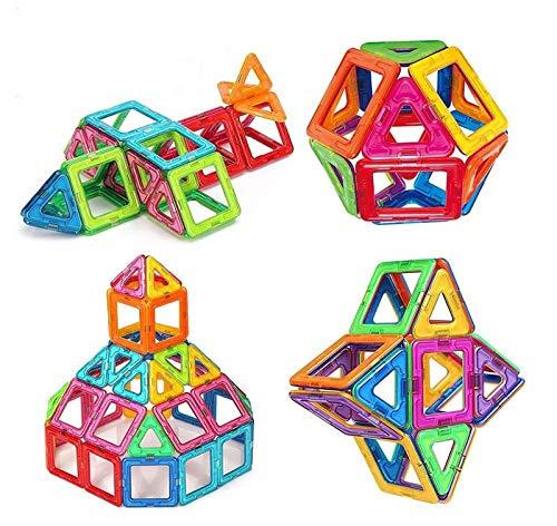 Bloques de construcción de Bloques magnéticos de 64 Piezas Juegos educativos para...