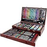 ARTOYS Set Pittura Bambini,123 Pezzi Artistico Kit per Disegno,Matite Colorate,Pastelli a...