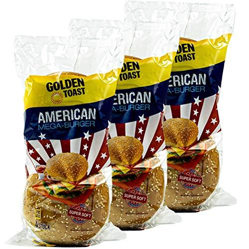 Golden Toast - 3er Pack American Mega-Burger Brötchen