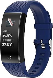LBFXQ Fitness and Activity Tracker, Fitness Tracker HR, Reloj de Contador de cálculo de calorías Impermeable por IP68, Reloj de Contador de calorías para Mujer,Azul