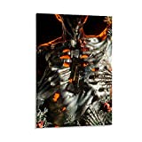 liutao Skelett-Poster, dekoratives Gemälde, Leinwand,