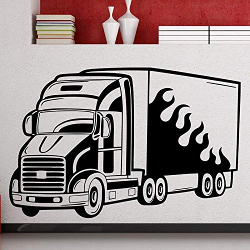 Tianpengyuanshuai Big Truck Wall Sticker Auto Vinyl Decals Home Boy Interior Art Decoratie