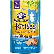 Wellness Kittles Crunchy Natural Grain Free Cat Treats, Chicken & Cranberries, 2-Ounce Bag