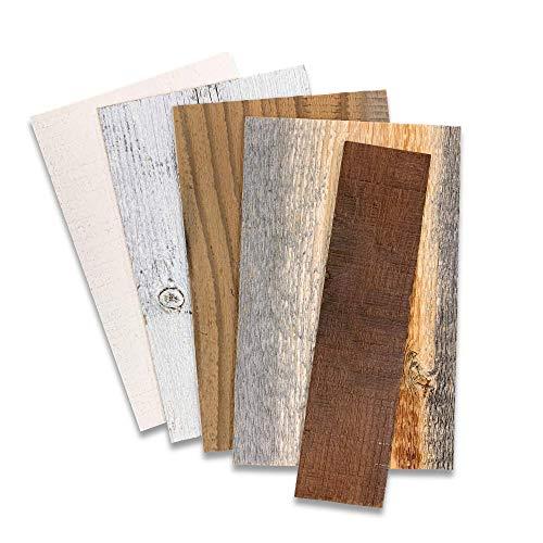 Stikwood Recyceltes, verwittertes Holz Proben-Set aus wiederaufbereitetem 5er-Pack