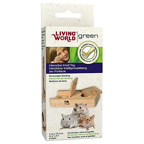 Living World Green interaktives Intelligenzspielzeug -Schiebespiel- für Meerschweinchen und Kaninchen - 3
