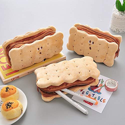 Scatola Di Cartoleria, Sacchetto Di Matita Di Peluche A Forma Di Biscotto Sandwich Giapponese Di...