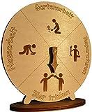 MAEWA® Bieruhr – lustiges Geschenk für Männer und Frauen – Präzise gelasert aus Holz - 22cm Durchmesser – 100% Made in Germany – nachhaltig und fair