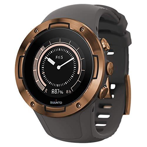 Suunto 5 Leichte und kompakte GPS-Sportuhr mit 24/7 Activity Tracker und Herzfrequenzmessung am Handgelenk, grau