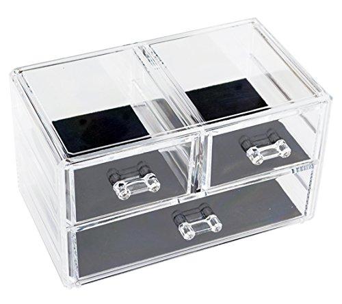 St.Oswalds Porta Trucchi Organizzatore Cassetti Trasparentei 3 Cassetti 2237G