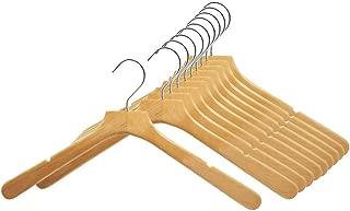 Perfecasa Svelte Series Wooden Hangers 10 Pack, Suit Hangers, Coat hangers (Natrual)