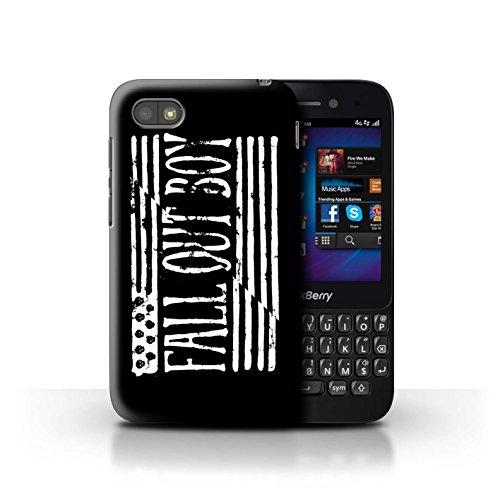 STUFF4 Phone Case/Cover/Skin/BB-CC/FOB Band Logo Collectie Blackberry Q5 Amerikaanse vlag/Zwart