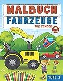 MALBUCH FAHRZEUGE FÜR KINDER ab 2-10