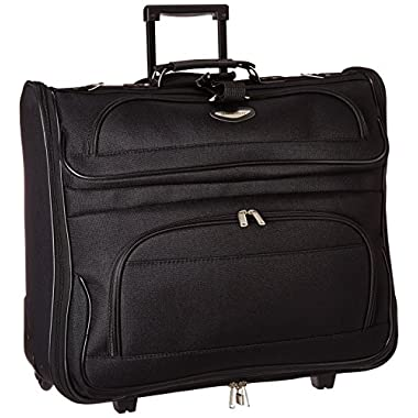 Travel Select Amsterdam Rolling Garment Bag Wheeled Luggage Case, Black (23-Inch)