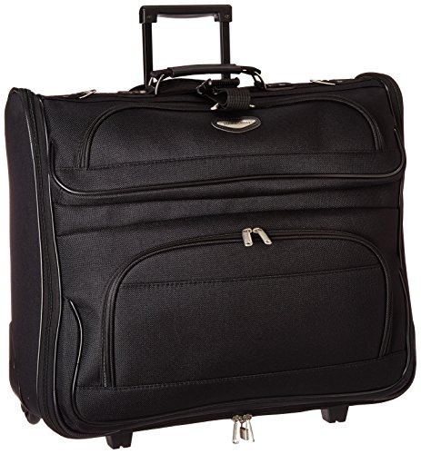 Travel Select Amsterdam Business Rolling Garment Bag with Protective Foam, Black