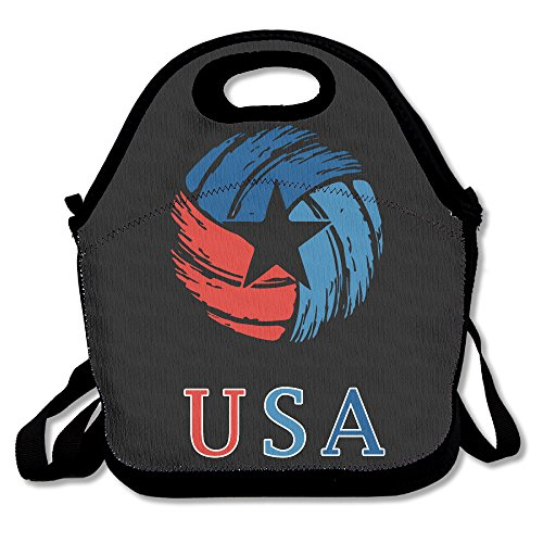 volleyball USA Drapeau déjeuner Sac fourre-tout Boîte à lunch pour l'école d'extérieur