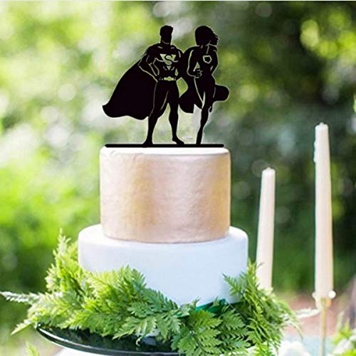Windmill Sales, Inc. Cake Topper Superman & Supergirl Silhouette - Kuchendekorationen