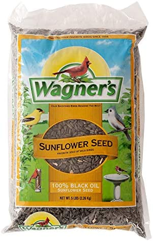 Wagner s 52023 Black Oil Sunflower Seed Wild Bird Food 5 Pound Bag product image