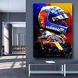 JEfunv Moderne Wohnkultur Fernando Alonso Abstraktes Poster