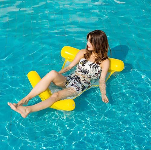 LMM Folding Aufblasbaren Wasserschwimmring, Beweglichen Faltbare Swimmingpool Für Erwachsene Liegestuhl, Wasser Aufblasbares Spielzeug Für Kinder Und Erwachsene, Schwimmreifen Für Pool-Party Strand