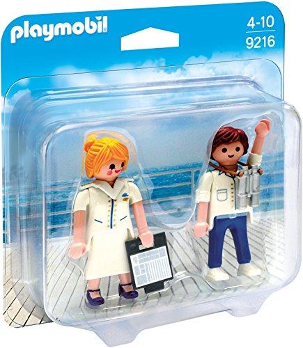 PLAYMOBIL Duo Pack 9216 Azafata y Piloto