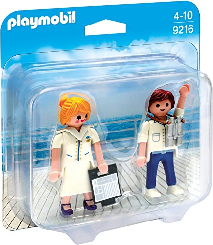 PLAYMOBIL Duo Pack-9216 Azafata y Piloto, Multicolor, única (9216)