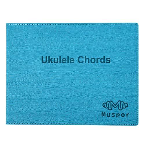 S-TROUBLE Libro de acordes de Ukelele portátil, guía de Guitarra, Tabla de Ayuda para el Aprendizaje, Tono de Ukelele, Nota, Libro de Notas, Instrumento de Cuerdas