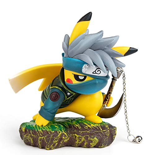 "Naruto Actions Figures GK Pikachu Cosplay Hatake Kakashi Figure Statues Collection Birthday Gifts PVC 4"""