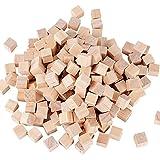 10mm 200pz Cubi Legno Naturale Grezzo da Decorare Decorazioni Fai da Te