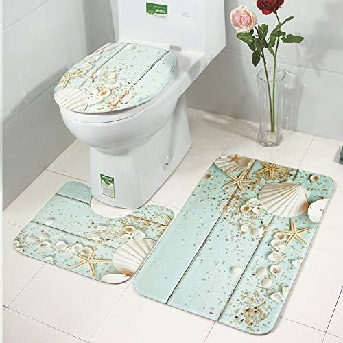 CHENZHAOL Baño Mats Conjunto 3 Piezas Aseo Cover Set WC Toilette ...