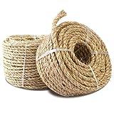 N\C 20M 30M Cuerda de sisal NaturalFabricaciónDuraderaPatas de Silla de Escritorio Poste rascador de Gato Juguete Material de encuadernación de árbol de Gato para afilar Garra