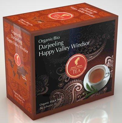 Julius Meinl BIO Darjeeling Happy Valley Windsor Big Bag (1 Teebeutel für ca. 1 lt. Wasser), Bio Schwarzer Tee - 20Beutel - 2x